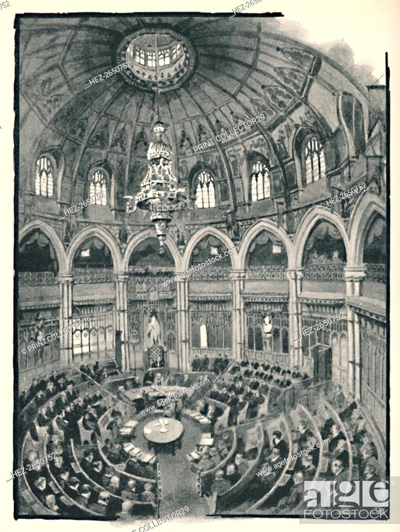 Stock Photo: 'The Guildhall - Council Chamber', 1891. Artist: William Luker.