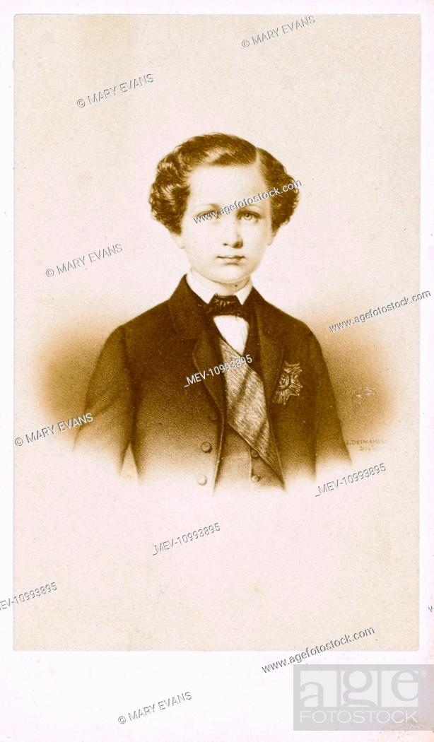Stock Photo A Carte De Visite Photograph Of Portrait Painting The Young Prince