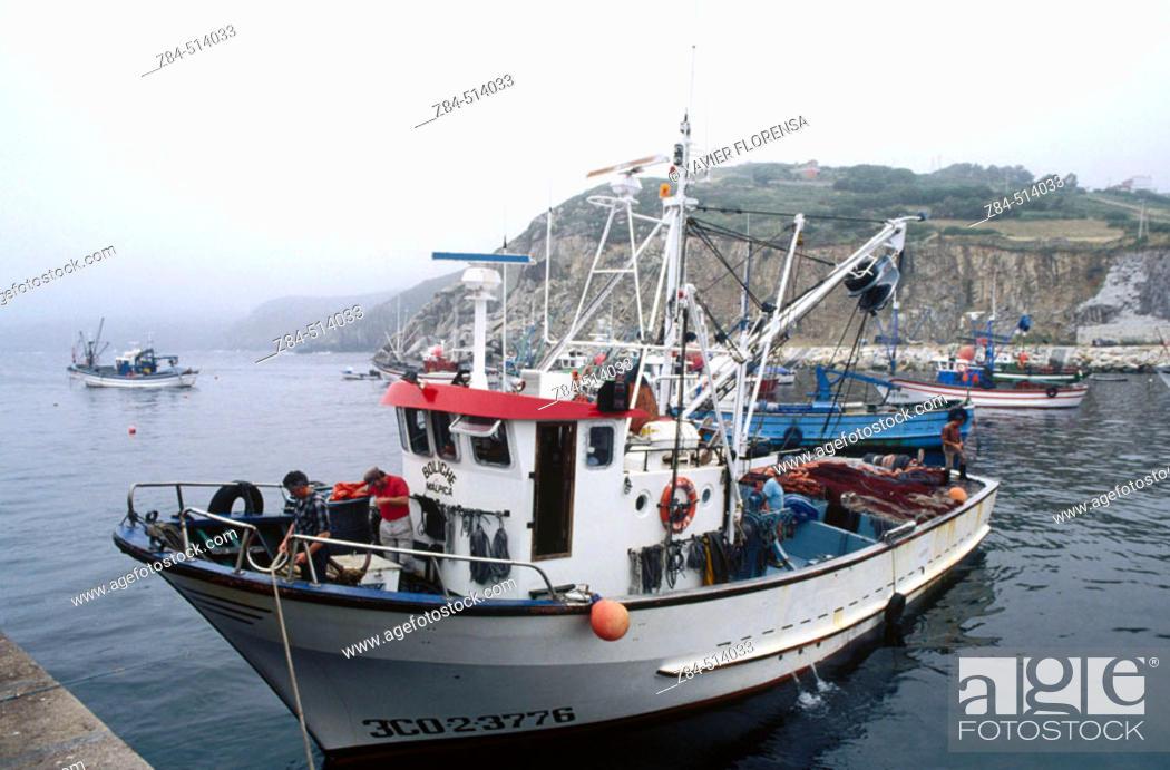 Stock Photo: Fishing boat. Malpica harbour. La Coruña province. Galicia. Spain.