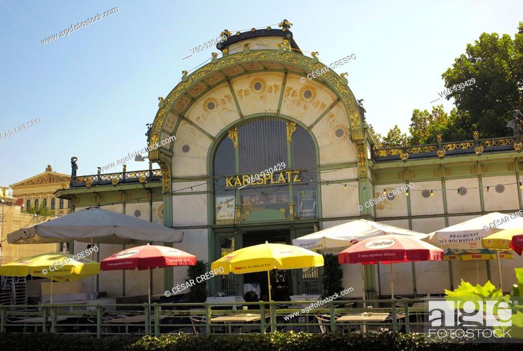 Stock Photo: -Karplatz Station- Wien.