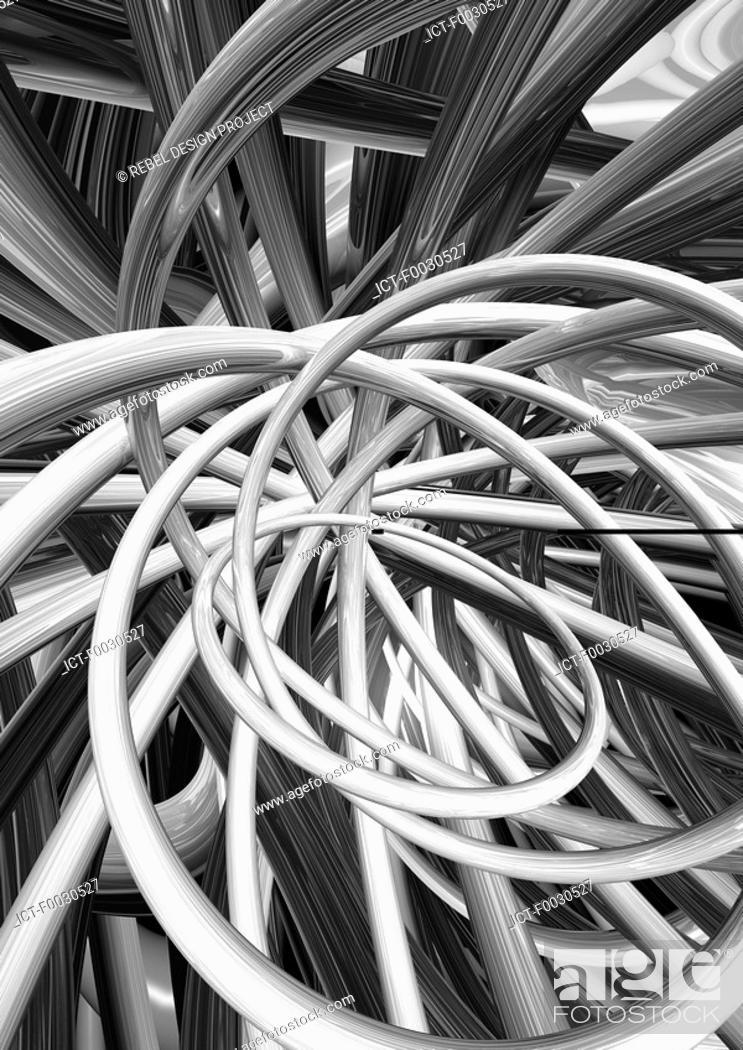 Stock Photo: Digital creation: network.
