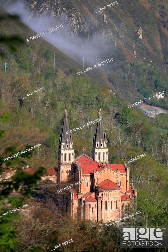 Stock Photo: Covadonga historical site, Asturias, North Spain.