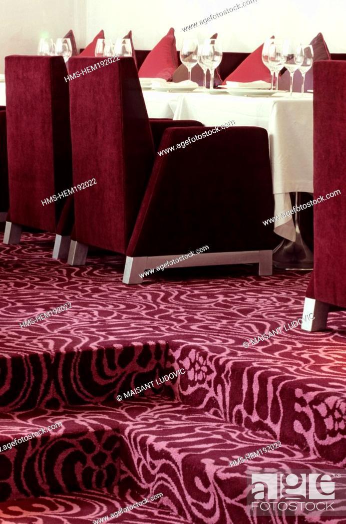 Stock Photo: France, Paris, Hotel Murano Urban Resort at 13 Boulevard du Temple, restaurant.