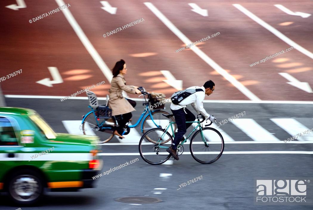Stock Photo: Urban landscape od Tokyo, traffic - Hakozaki junction near Tokyo City Terminal , Nihonbashi-Hakozaki-cho, Chuo-ku, Tokyo, Japan.