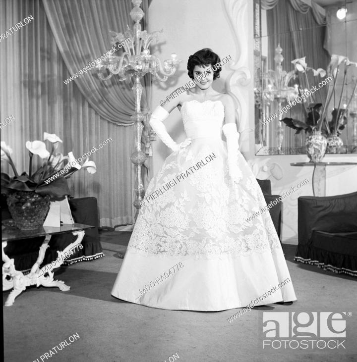 Italian actress Rossana Podestà posing wearing some fashionable ...