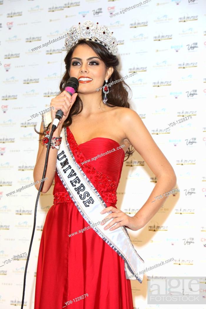 Stock Photo: Ximena Navarrete Miss Universe 2010 in kickoff press after his coronation at the Mandalay Bay Hotel, Las Vegas, Nevada, USA.