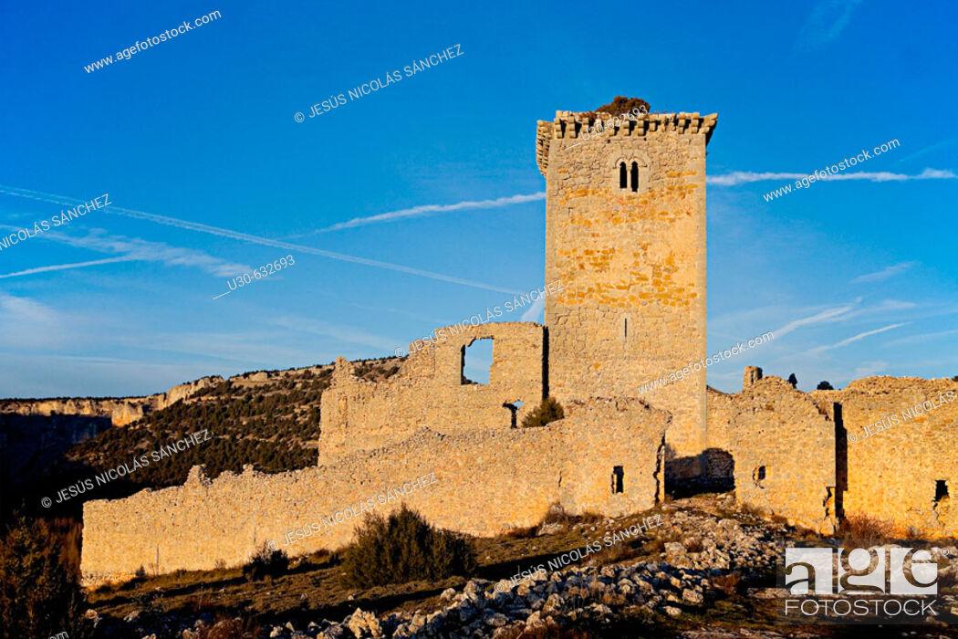 Stock Photo: Castle. Ucero. Soria province, Castilla-León, Spain.