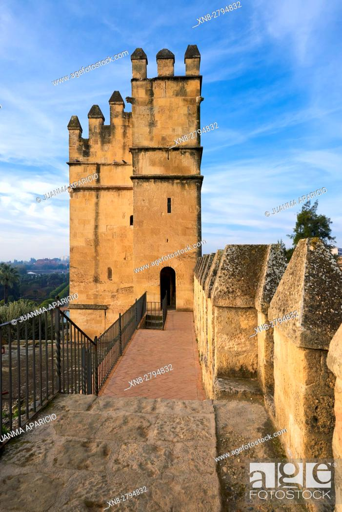 Stock Photo: Alcazar of Catholic Kings, Córdoba, Andalusia, Spain, Europe.
