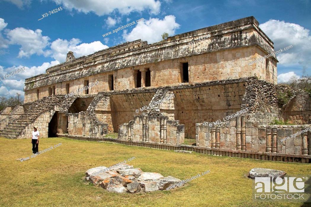 Stock Photo: El Palacio, The Palace, Kabah Archaeological Site, Kabah, near Uxmal, Yucatan State, Mexico.