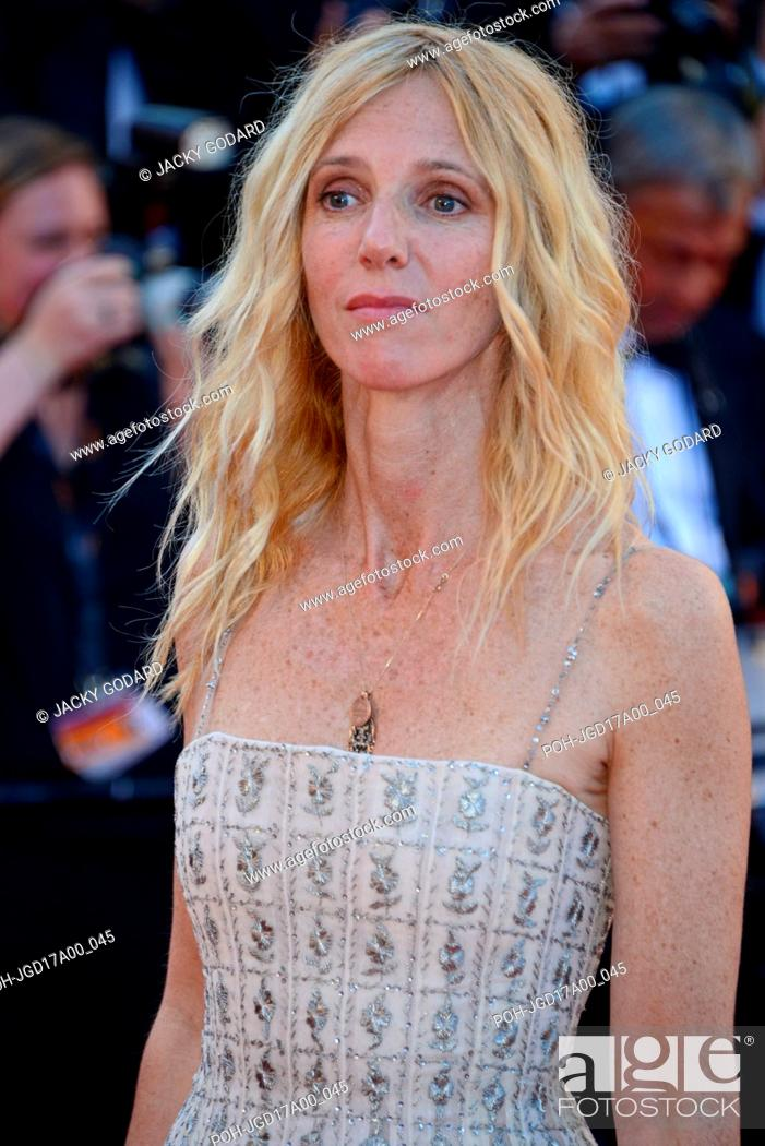e7cc41e2885 Stock Photo - Sandrine Kiberlain (dress designed by Dior) Arriving on the  red carpet for the film  Ismael s Ghosts  (Les Fantômes d Ismael) 70th  Cannes Film ...