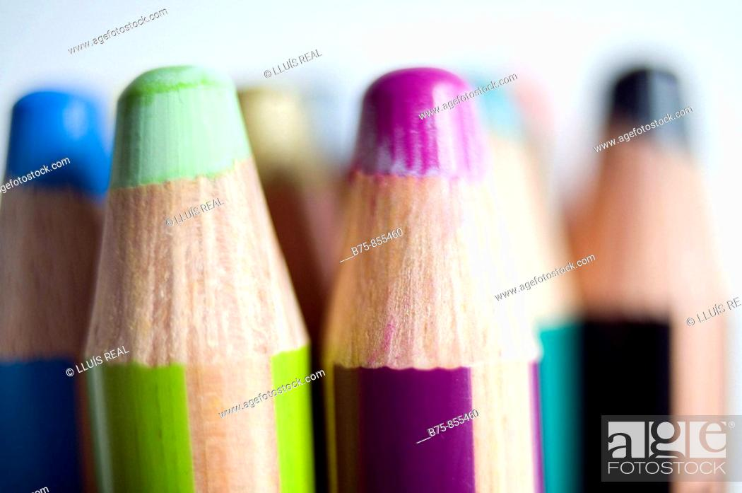 Stock Photo: Crayons.