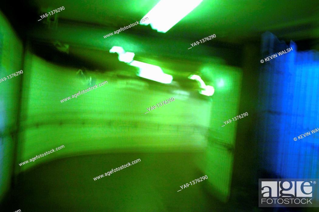 Stock Photo: City centre dimly lit pedestrian subway.