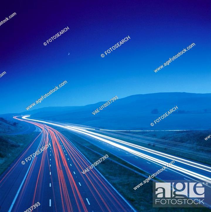 Stock Photo: Rush Hours on the M6 Motorway, England.