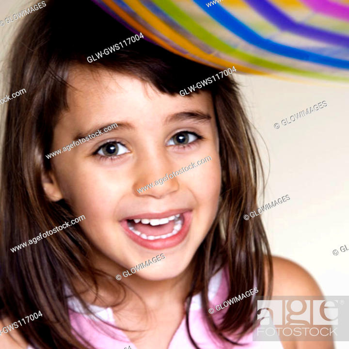 Stock Photo: Portrait of a girl laughing.