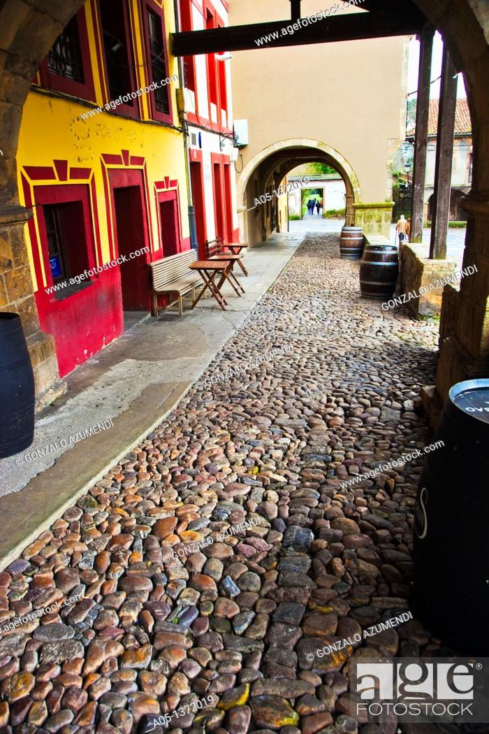 Stock Photo: Galiana Street  Aviles  Asturias  Spain.