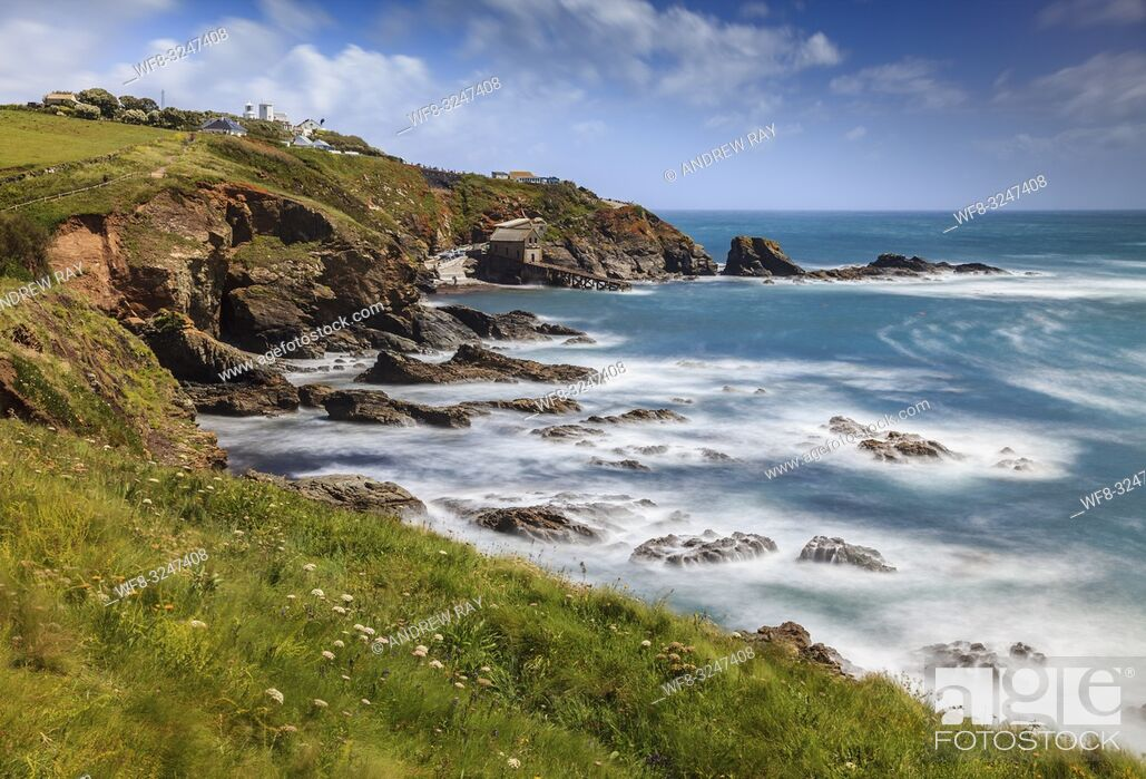 Stock Photo: The most southerly point on the UK mainland captured from the South West Coast Path above Polpeor Cove.