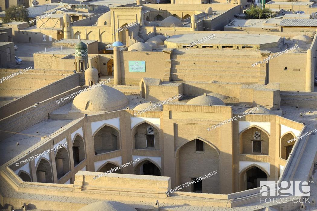 Stock Photo: Uzbekistan, Khorezm, Khiva, Unesco World Heritage Site, Old city of Itchan Qala, Caravanserai.