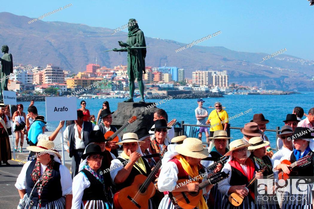 Stock Photo: Virgin of Candelaria pilgrimage . municipality of Candelaria. Santa Cruz de Tenerife. Spain.