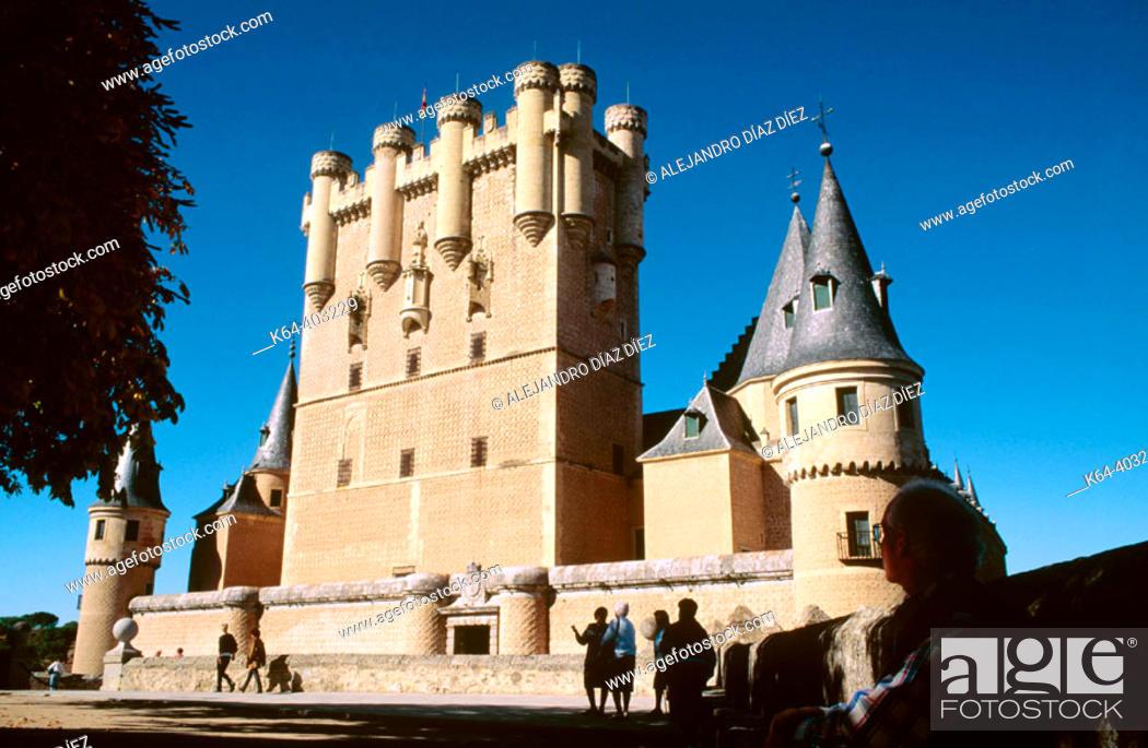 Stock Photo: Alcázar, Segovia. Spain.