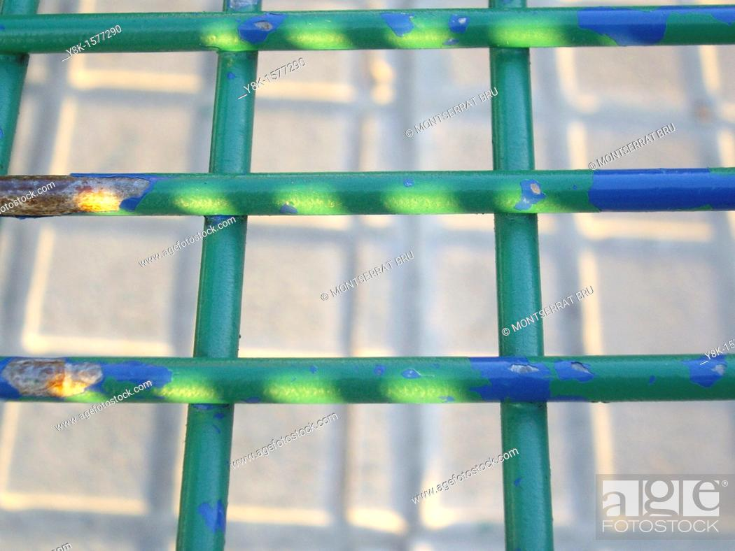 Stock Photo: Green grille.