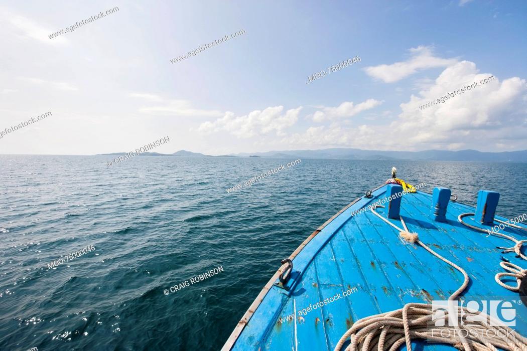 Stock Photo: Bow of boat on sea, Koh Samui, Thailand.