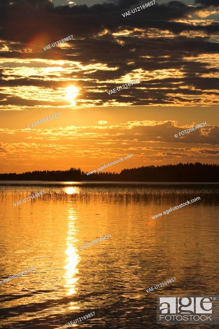 Stock Photo: Calm, Clouds, Dawn, Dusk, Environment.