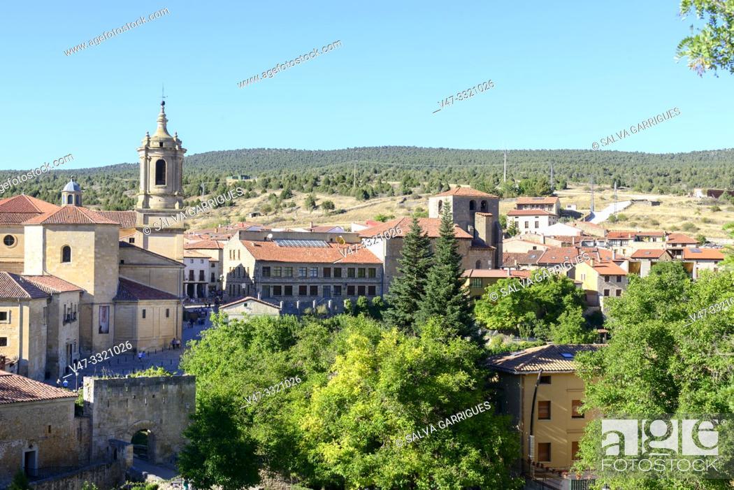 Stock Photo: Panoramic of Santo Domingo de Silos, Burgos, Castilla y Leon, Spain.