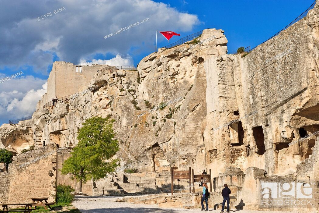 Stock Photo: France, Provence, Les Baux de Provence, castel ruins.