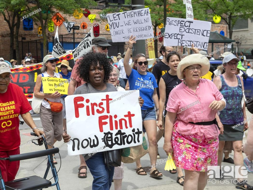 Detroit Michigan Usa 18 June 2018 Several Hundred People Rallied In Detroit To Support The Poor Stock Photo Picture And Rights Managed Image Pic X2j 3082055 Agefotostock