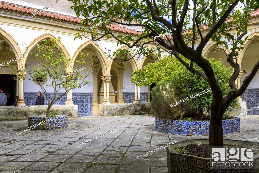 Stock Photo: Cemetery Cloister of the Convent of Christ in Tomar, Santarem District, Centro Region, Portugal, Europe.