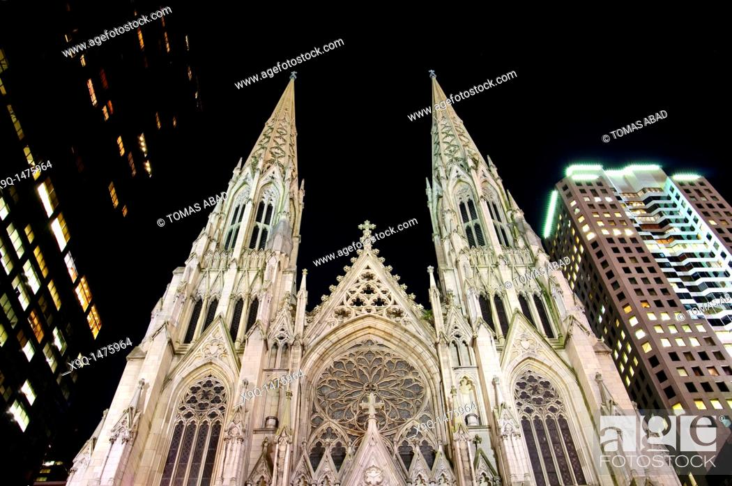 Stock Photo: St Patrick's Cathedral, New York City,.