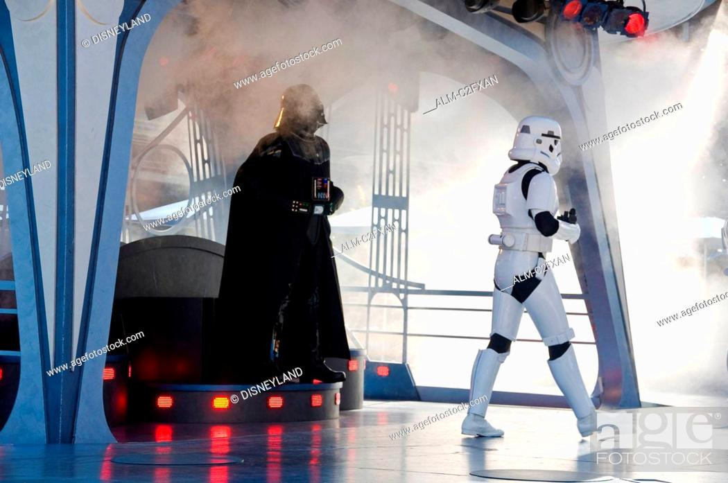 Stock Photo: Star Wars Show at Disneyland Amusement Park in California USA.