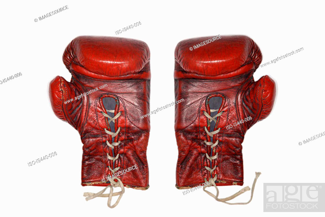 Stock Photo: Old boxing gloves.