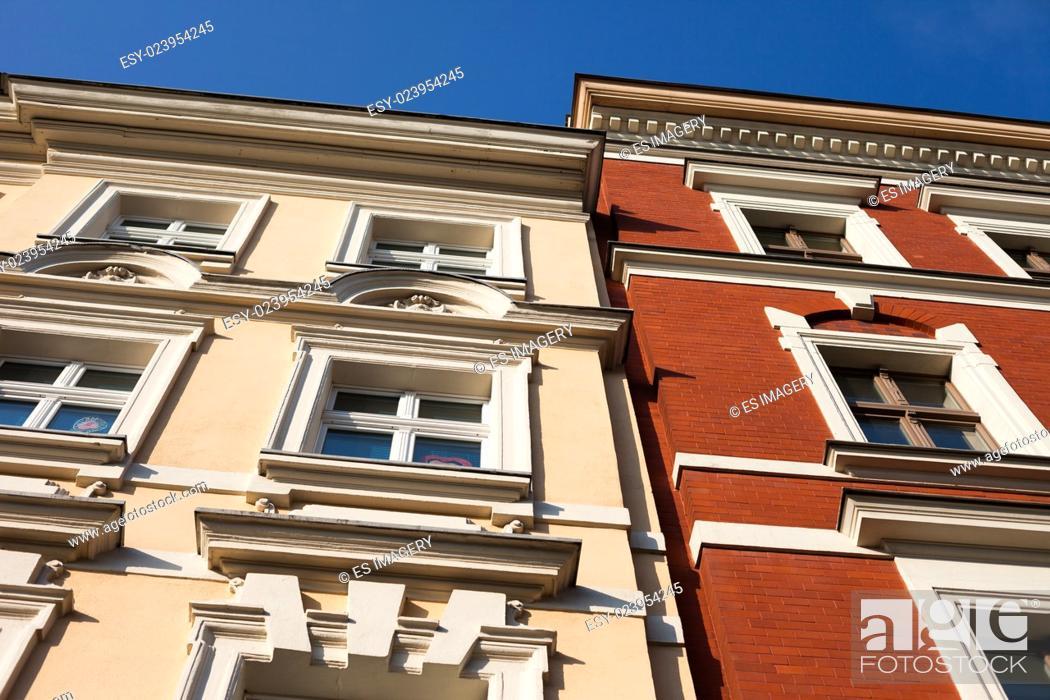 Stock Photo: Historic architecture in Frankfurt (Oder), Brandenburg, Germany.