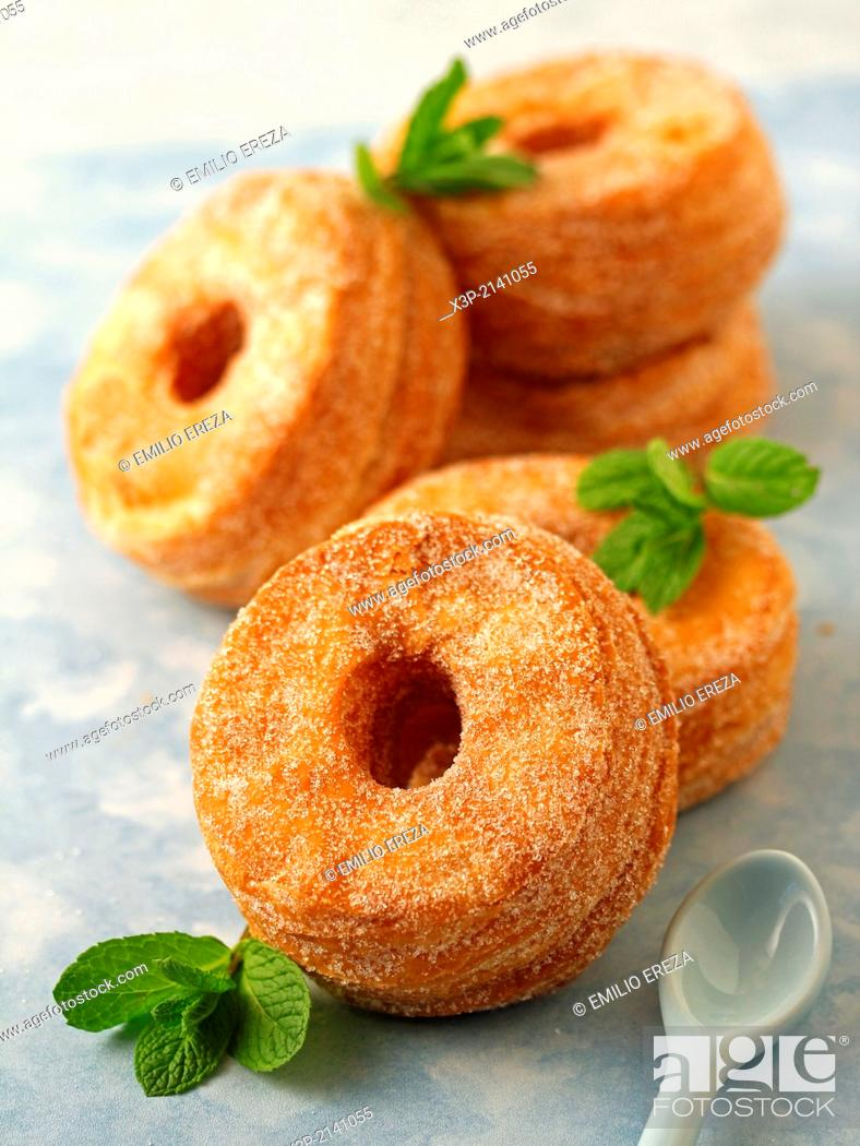 Stock Photo: Basic cronuts.