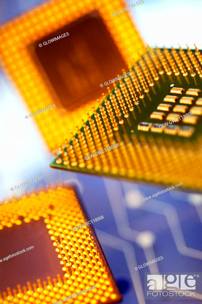 Stock Photo: Close-up of a computer chip.