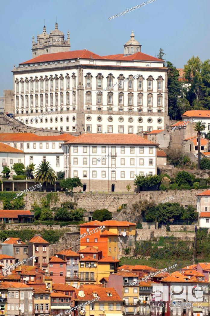 Stock Photo: Former Episcopal Palace, Ribeira district, Porto, Unesco World Heritage Site, Portugal, Europe.