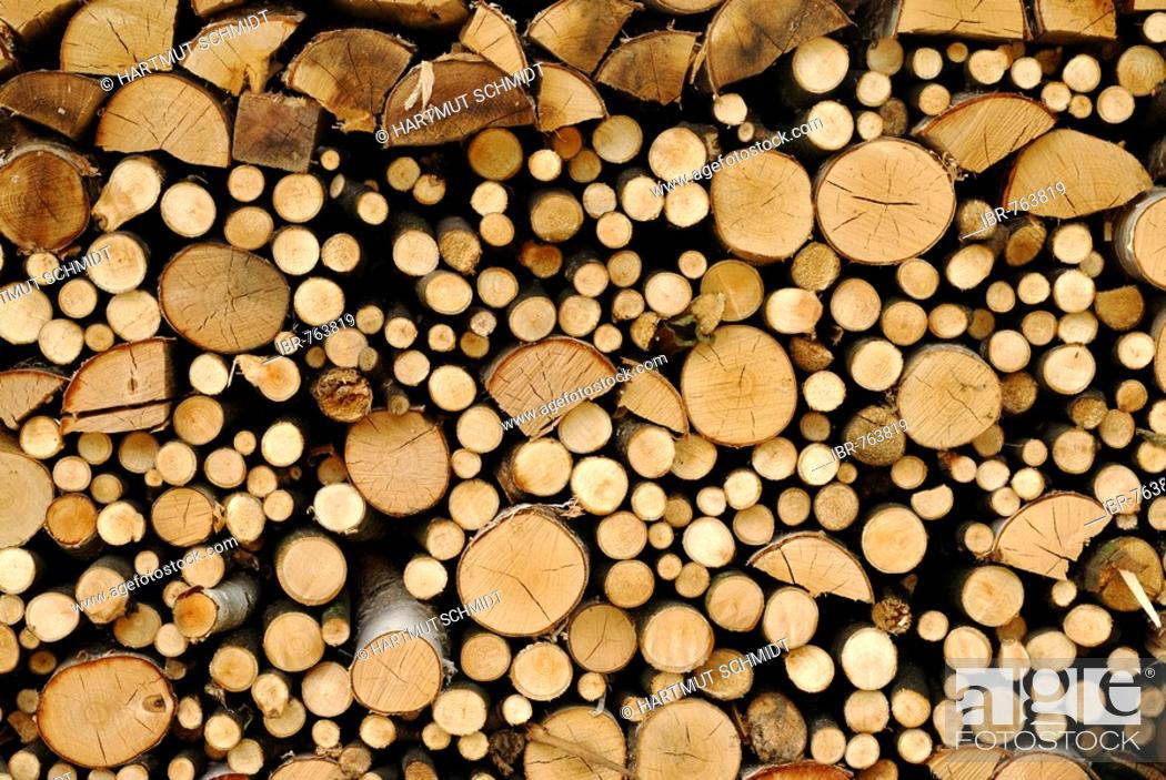 Imagen: Stacked firewood.