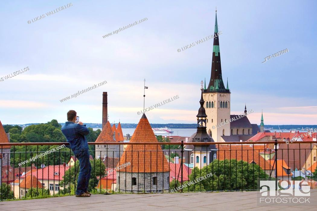 Stock Photo: Old Town from viewing platform in Toompea district,Tallinn,Estonia.