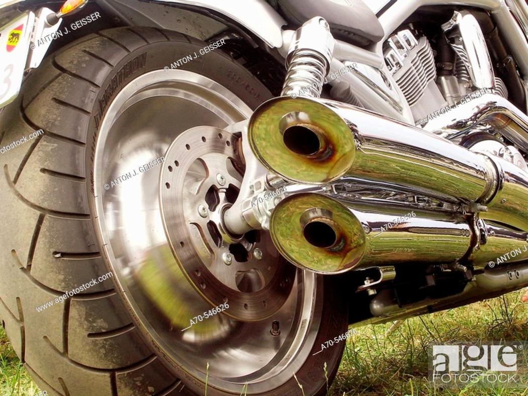 Stock Photo: Harley Davidson detail.
