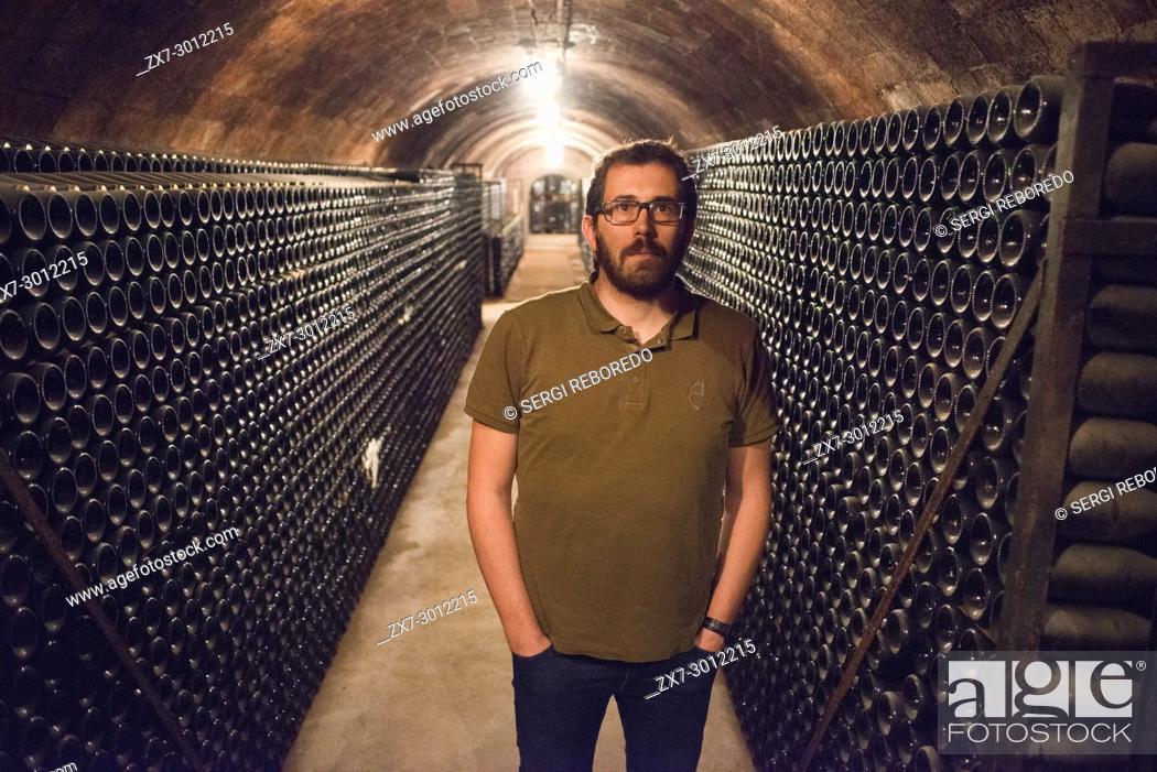 Stock Photo: Cavas Varias winery. Sant Sadurni d'Anoia, San Sadurni de Noya. Winery building. Catalonia Spain.