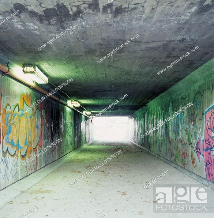 Stock Photo: Graffiti in an underpass.