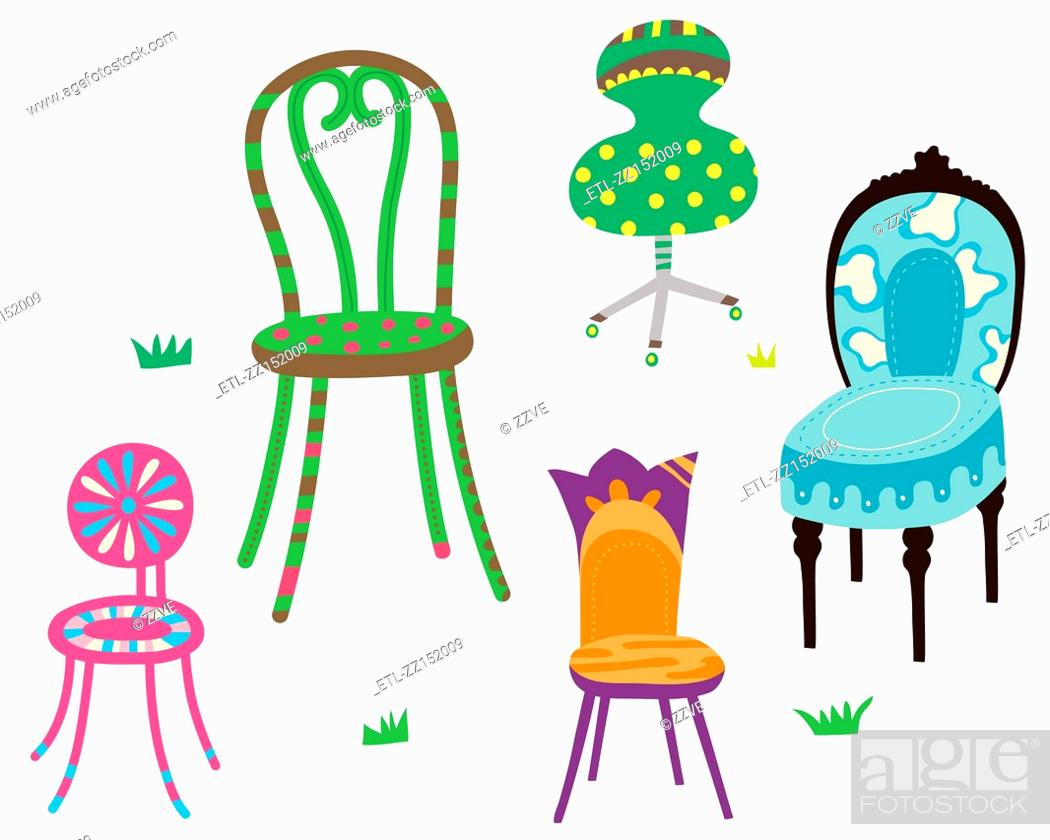Stock Photo: various chairs.