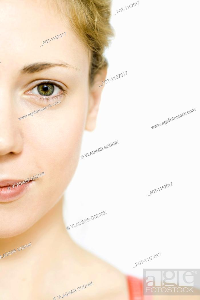 Stock Photo: Detail of a young woman.