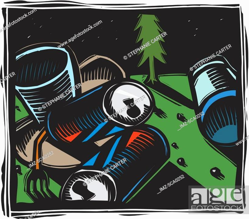 Stock Photo: Trash.