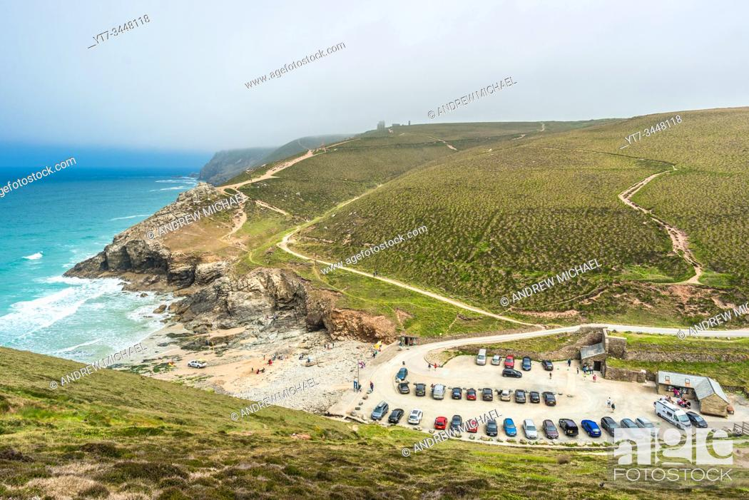 Stock Photo: Stunning coastal scenery at Chapel Porth on the St Agnes Heritage coast in Cornwall, England, UK.