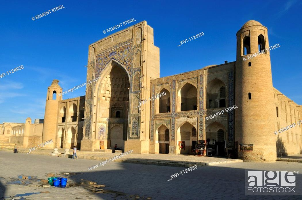 Stock Photo: Abdulaziz Chan, Khan Madrassah, Bukhara, Buchara, Unesco World Heritage Site, Uzbekistan, Central Asia.