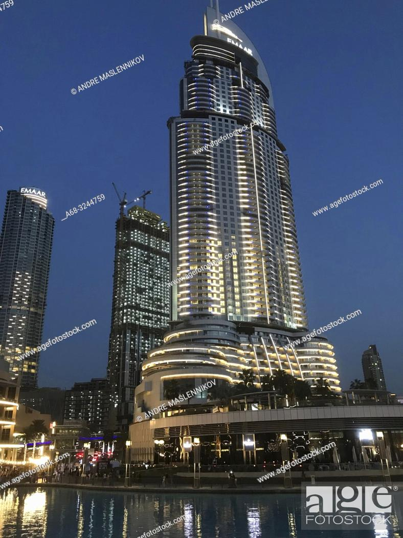 Stock Photo: The Address Downtown Dubai is open again after the fire 2015.