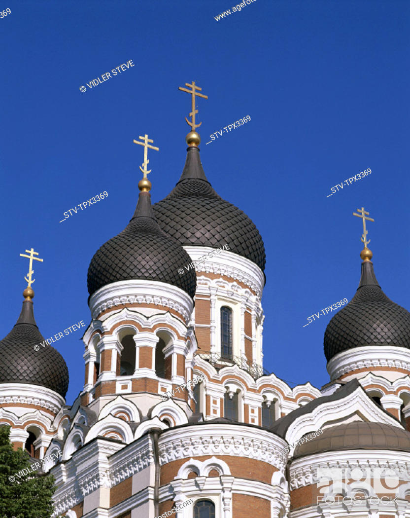 Stock Photo: Alexander, Cathedral, Estonia, Europe, Heritage, Holiday, Landmark, Nevski, Old town, Tallin, Tourism, Travel, Unesco, Vacation,.
