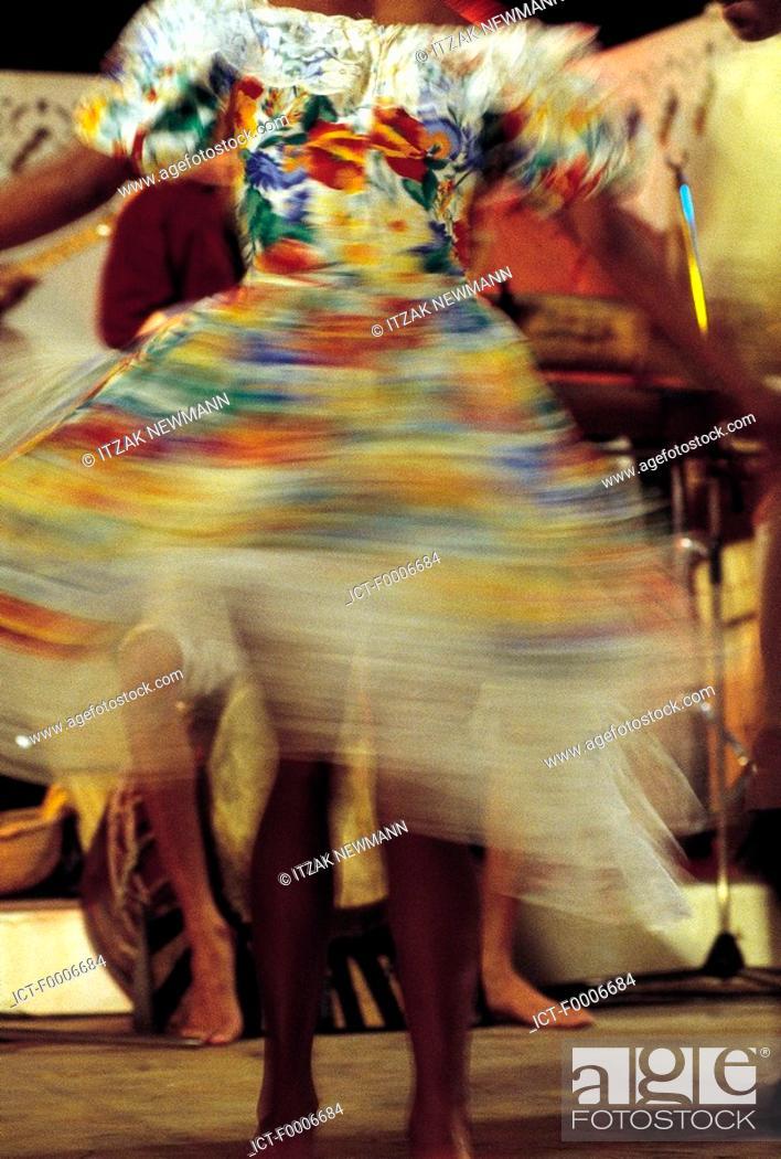Stock Photo: Reunion, Dancers of Sega-Maloya.